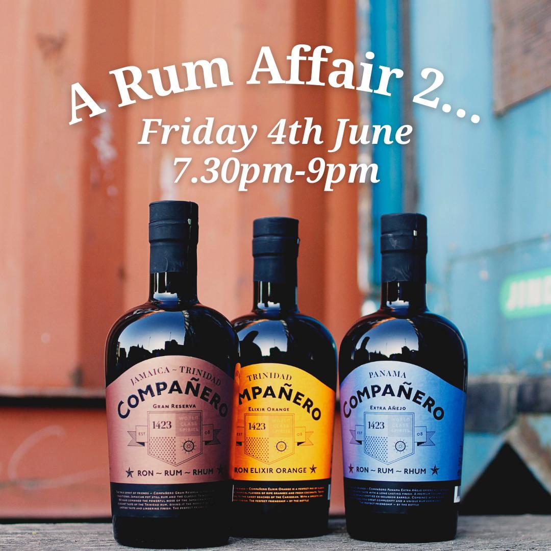 Virtual Event: A Rum Affair 2 Friday 4th June 7.30pm